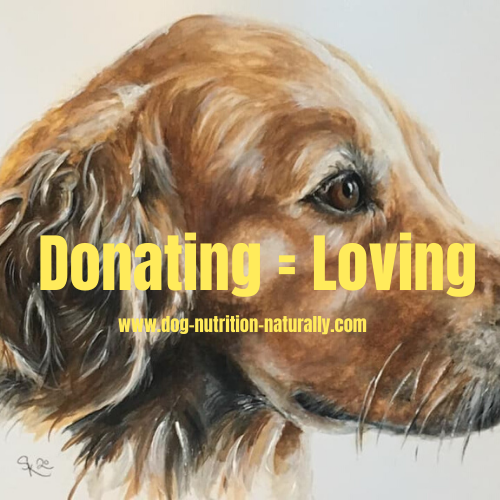Donating to Dog Nutrition Naturally