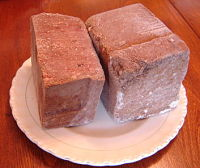 Frozen raw dog food bricks